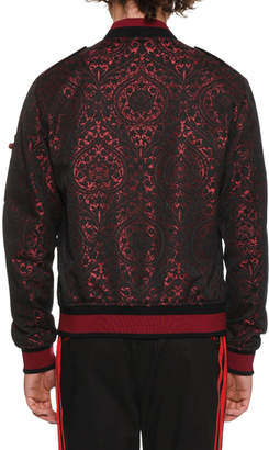 Dolce & Gabbana Men's Brocade Bomber Jacket