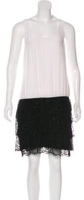Jay Ahr Lace-Accented Sleeveless Dress