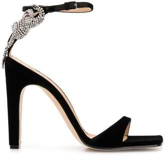 Sergio Rossi velvet sandals