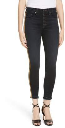 Veronica Beard Debbie Tuxedo Stripe Skinny Jeans