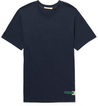 Nudie Jeans Daniel Organic Cotton-Jersey T-Shirt - Men - Navy