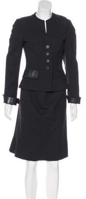 Akris Double-Breasted Skirt Suit