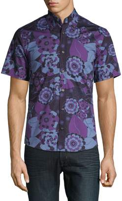 Tiger of Sweden Floral Short-Sleeve Button-Down Shirt