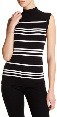 SUSINA Striped Sleeveless Mock Neck Knit Shirt (Petite) $19.97 thestylecure.com