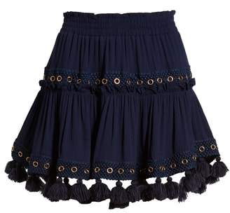 MISA LOS ANGELES Marcella Fringe Trim Skirt