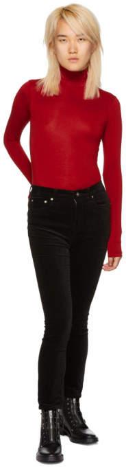 Black Velvet High-Rise Skinny Jeans