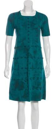 Bottega Veneta Short Sleeve Knee-Length Dress