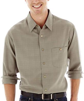 Haggar Long-Sleeve Microfiber Woven Shirt