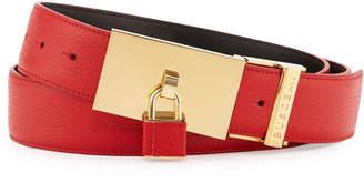 Buscemi Padlock-Buckle Leather Belt