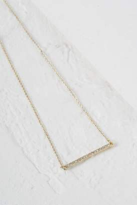 French Connection Crystal Bar Necklace