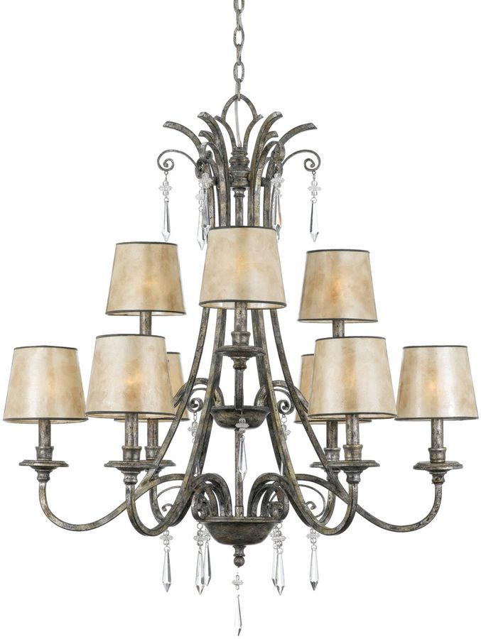 Mica Kendra Collection 9-Light Chandelier with Shades
