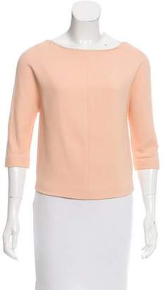 Narciso Rodriguez Textured Long Sleeve Top