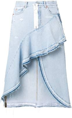 Off-White asymmetrical denim skirt