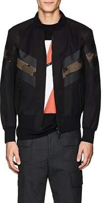 Neil Barrett Men's Faux-Suede Inset Bomber Jacket