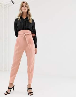 Asos Design DESIGN high waist balloon tapered pants