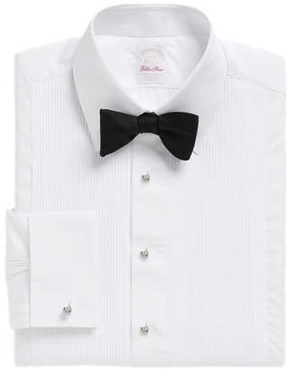 Brooks Brothers Golden Fleece Madison Fit Swiss Pleat Tennis Collar French Cuff Tuxedo Shirt