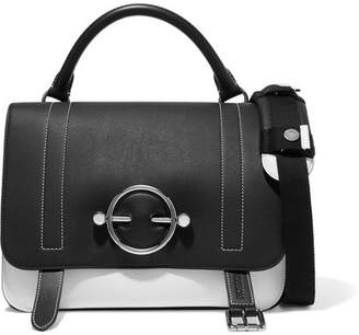 J.W.Anderson Disc Two-tone Leather And Suede Shoulder Bag - Black