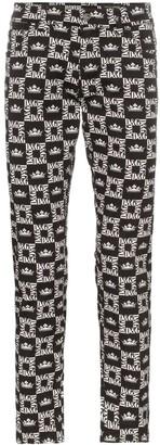 Dolce & Gabbana logo mosaic trousers