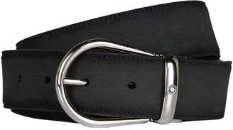Montblanc Horseshoe Buckle Suede Belt