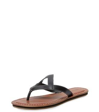 Bernardo Women's Geometric Leather Thong Sandal