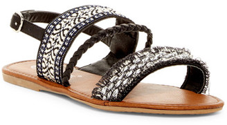 Nature Breeze Dolly Braided Ankle Strap Sandal $60 thestylecure.com