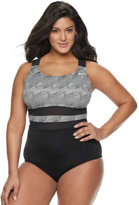 Nike Plus Size Radical Edge V-Back One-Piece Swimsuit