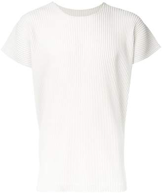 Issey Miyake Homme Plissé pleated short sleeve t-shirt