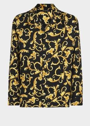 Versace Baroque Silk Pyjama Shirt