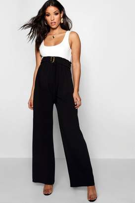 boohoo Maternity Over The Bump Belted Trouser