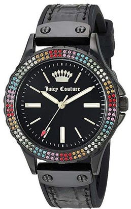 Juicy Couture Black Watch with Rainbow CrystalBezel