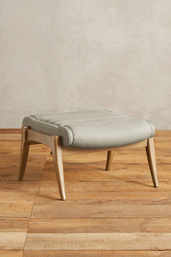 Anthropologie Anthropologie Linen Roadway Ottoman