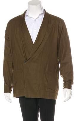 Dries Van Noten Shawl-Lapel Kimono Shirt Jacket