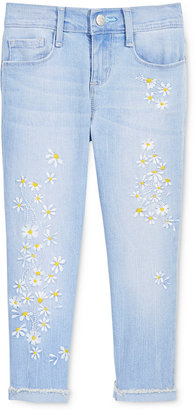 Jessica Simpson Cropped Embroidered Daisy Skinny Jeans, Big Girls (7-16) $44.50 thestylecure.com