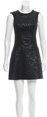 Sandro Floral Patterned Neoprene Dress $95 thestylecure.com