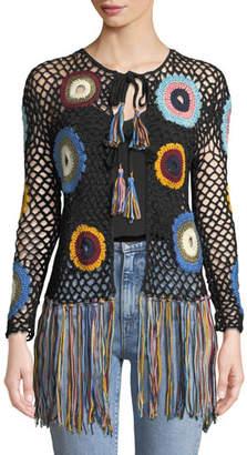 Talitha Collection Hand-Crochet Fringe Cardigan