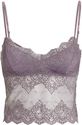 Only Hearts So Fine Smoked Pink Lace Cami