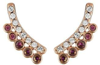 Adore Rose Gold Plated Pave & Bezel Set Swarovski Crystal Accented Ear Crawlers