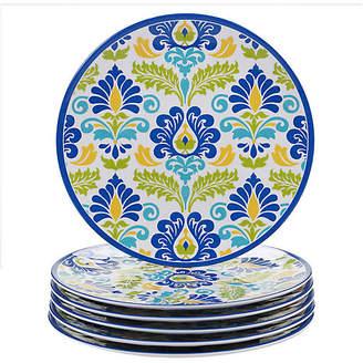 One Kings Lane Set of 6 Palmer Melamine Dinner Plates - Blue/Green