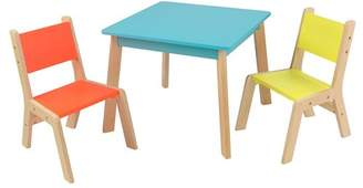 Kid Kraft Modern Kid's 3 Piece Square Table and Chair Set