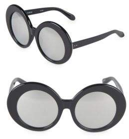 Linda Farrow 55MM Round Sunglasses