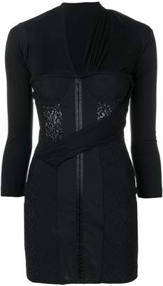 Alexander Wang fitted bodice mini dress