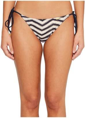 Luli Fama El Malecon Braided Wavey Tie Side Ruched Back Full Bikini Bottom Women's Swimwear