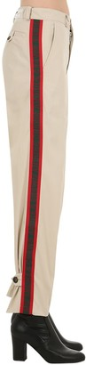 Andrea Crews Nylon Pants W/ Logo Side Bands