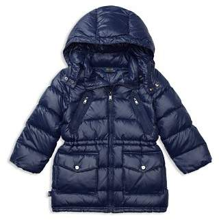 Ralph Lauren Girls' Long Puffer Jacket - Big Kid