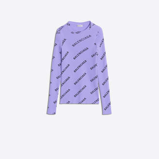 Balenciaga Ribbed knit long lseeves logo sweater