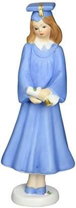 "Enesco Growing Up Girls ""Brunette Graduate"" Porcelain Figurine"