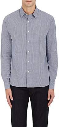 Barneys New York MEN'S GINGHAM COTTON DOBBY DRESS SHIRT