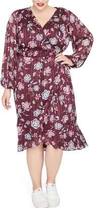 Rachel Roy Gisela Floral Metalllic Detail Dress