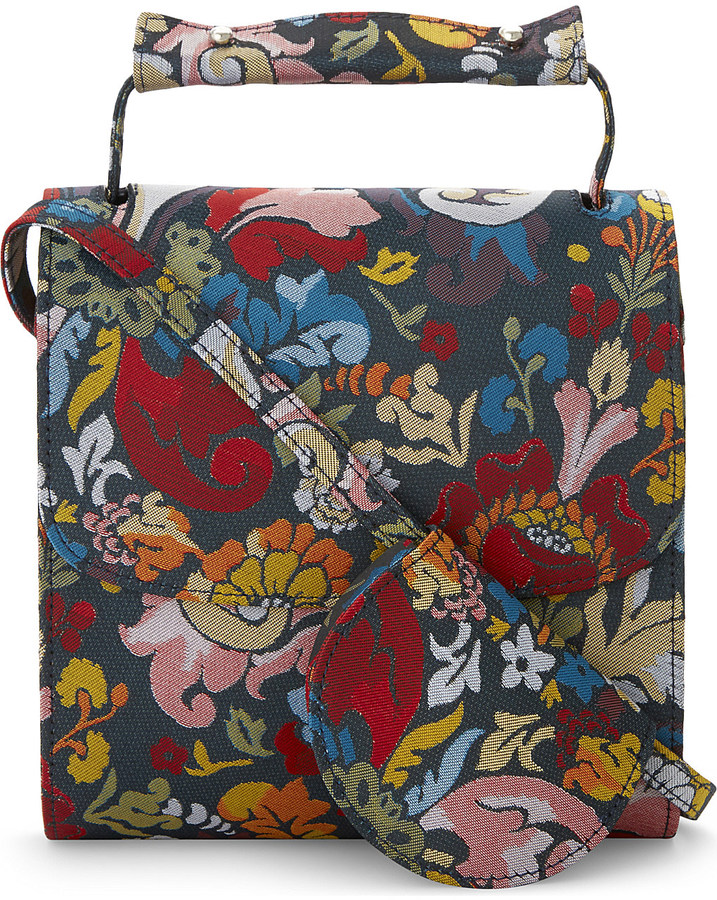 Marques Almeida Floral print brocade cross-body bag