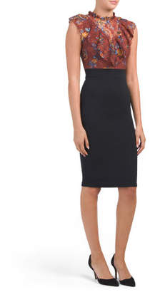 Juniors Victoria Neck Midi Dress